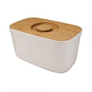 Joseph joseph Boîte à pain avec couvercle planche à découper bambou blanc Blanc