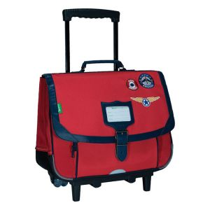 Tann's Cartable À Roulettes Tanns Les Fantaisies Tom 38cm 2 Compartiments Rouge