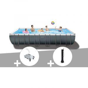 Intex Kit piscine tubulaire Ultra XTR Frame rectangulaire 7,32 x 3,66 x 1,32 m + Robot nettoyeur + Douche solaire