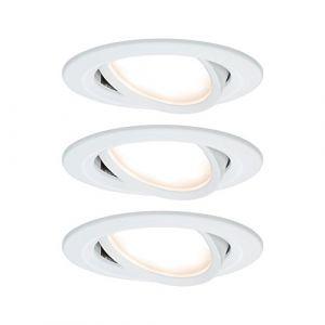 Paulmann 3 spots encastrables LED Coin Slim, blancs, IP23