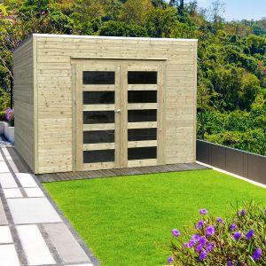 Abri de jardin en bois traité autoclave Bari 8 m²