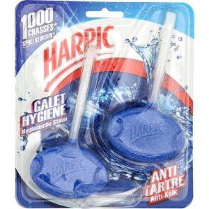 Harpic Pack de 2 blocs nettoyant WC Galet Hygiène Antitartre (Lot de 3)