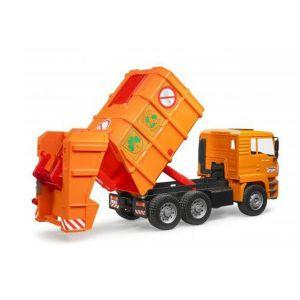 c9c21d0825a899 Bruder Toys 02760 Man Tga Orange - Camion Poubelles