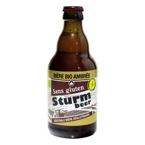 Sturm france Bière Bio sans gluten Ambrée 6,5% Vol. 33cl