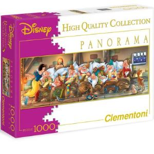 Clementoni Puzzle Panoramique: Blanche-neige 1000 pièces