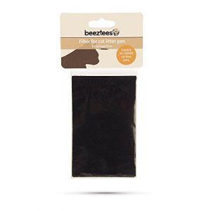 Beeztees Filtre de Charbon Actif pour Litière 82 x 132 mm, convient pour la litière Curver Petlife Style, contre les odeurs
