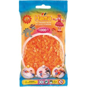 Hama Sachet 1000 perles MIDI - orange néon