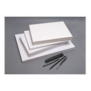 Clairefontaine 93714C - Etui de 10 feuilles de papier à dessin à grain, 180 g/m², 50x65