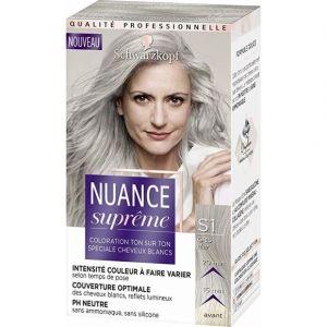Schwarzkopf Coloration spciale cheveux blanc, S1 gris clair, sans ammonique,sans silicone
