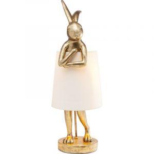 Kare Design Lampe à poser lapin doré RABBIT