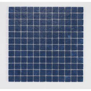 U TILE Mosaique en resine imitation pierre 30 x 30 cm carreau 2,5 x 2,5 cm bleu nuit