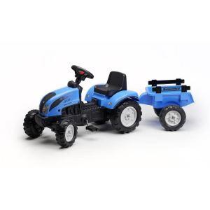 Falk Tracteur à pédales Landini Powermondial 110 avec remorque