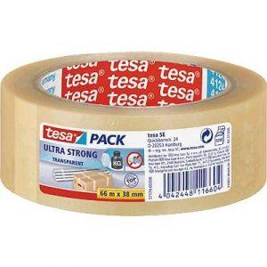 Tesa 57174-00000-02 - Ruban adhésif Pack Ultra Strong, 38 mm x 66 m, en PVC incolore