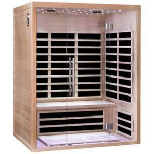 Sno Sauna infrarouge panneaux carbone 2220W LUXE 3 places