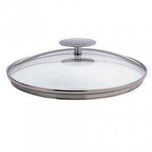 Cristel K20P - Couvercle en verre bombé Platine 20 cm