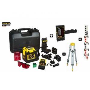 Stanley 6-97-73 - Niveau laser rotatif double pente manuelle FatMax RL HV + Cellule de détection + Accessoires