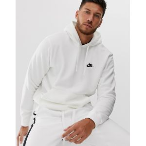 Nike Sweat à capuche Sportswear Club Fleece - Blanc - Taille L - Male