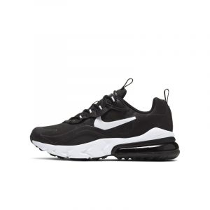 Nike AIR Max 270 React (GS), Chaussure de Course Fille, Black White Black, 37.5 EU
