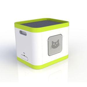 Le Cube - Maison de toilette avec station de repos