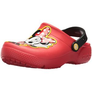 Crocs Fun Lab Minnie Clog Kids, Sabots Fille, Rouge (Flame) 22/23 EU