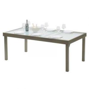 be316f4d201bb Wilsa Table de jardin Modulo 8 12 taupe - 200 320