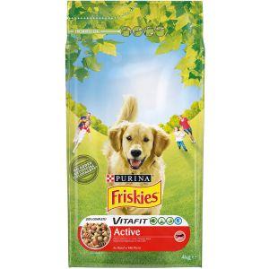 Friskies Croquettes Vitafit Active au bŒuf - Pour chien adulte - 4 kg