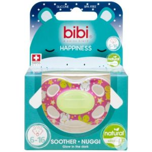 Bibi Happiness dental Glow in the dark sucette 6-16M