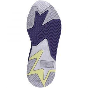 Puma Chaussure Basket RS-X3 Mesh Pop pour Femme, Blanc/Violet, Taille 39, Chaussures