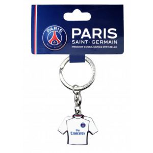 Porte-clés en métal format maillot extérieur PSG