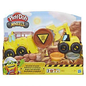 Hasbro Play Doh – Pate A Modeler Play Doh Wheels - Coffret Pelleteuse et Bulldozer