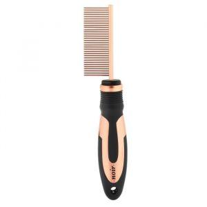Ebi Peigne de démêlage fin 32 dents - 22x5cm - Noir - Pour chien