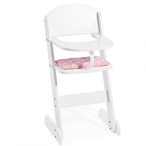 """Howa Poupées Chaise haute en bois """"Stars"""" 2840"""