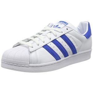 Adidas Superstar, Chaussures de Gymnastique Homme, Blanc Blue/FTWR White, 40 EU