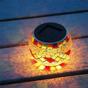 Galix Lanterne solaire verre effet mosaïque