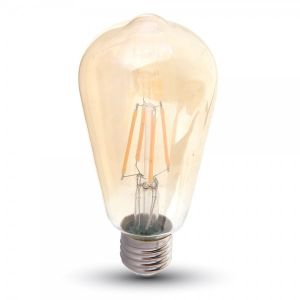 V-TAC VT-1966 ampoule LED E27 6W bulbeux ST64 filament - SKU 4362 SKU-4362