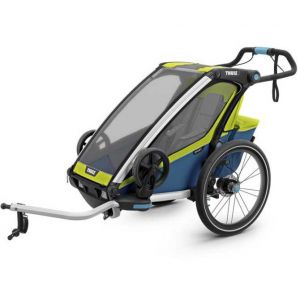 Thule Remorque de vélo enfant Chariot Sport 1 Chartreuse Mykonos vert