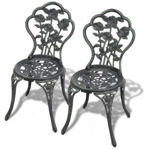 VidaXL Chaise de bistro mosaïque 2 pcs 41 x 49 x 81,5 cm aluminium