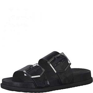 Tamaris Femme Mules, Dame Sabots,Touch It,Pantoufle,Slides,Sandale,Chaussure d'été,Chaussure de Loisir,Black Patent,36 EU / 3.5 UK