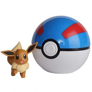 Bandai POKEMON - Poké Ball et sa figurine 5 cm Évoli