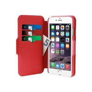Puro IPC647WALLETBLK1 - Étui portefeuille pour iPhone 6