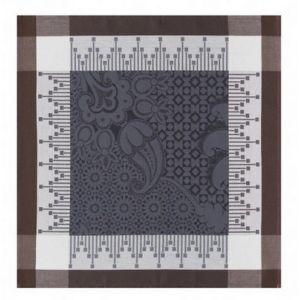 Le Jacquard Français Palais Persan - Serviette de table en coton peigné fibres longues (58 x 58 cm)