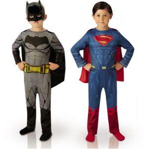 Pack 2 déguisements Batman vs Superman enfant Dawn of Justice