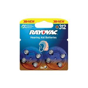 Varta 8 piles auditives Rayovac PR41 / HA312 / ZA312 SOUS BLISTER