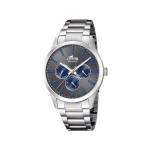 Lotus Watches Homme Multi-Cadrans Quartz Montre avec Bracelet en Acier Inoxydable 18575/3