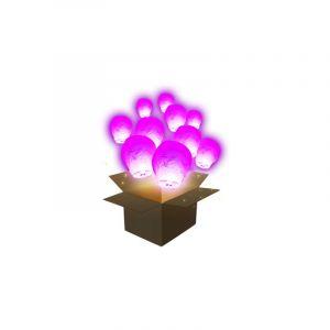 SkyLantern Lanterne Volante Balloon Rose x10 - Rose Fuchsia