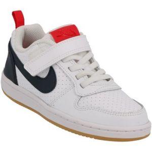 Nike Chaussures de sport Court Borough Low PSV à lacets et scratch Blanc - Taille 33,5