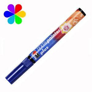 Marabu 011803053 - Marqueur pour tissu Textil Painter Plus, bleu foncé, pointe ogive 3 mm