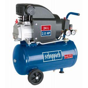 Scheppach Compresseur lubrifié 24L 8bar 1500W - HC25