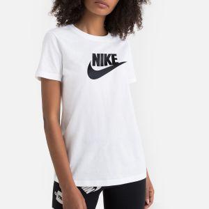 Nike W NSW Tee ESSNTL Icon Futura T-Shirt Femme, White/Black, FR (Taille Fabricant : XS)