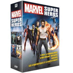 Coffret super héros Marvel : X-Men : Le Commencement + X-Men Origins: Wolverine + Les 4 Fantastiques et le Surfer d'Argent + Daredevil